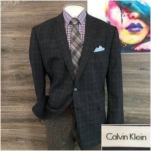 Calvin Klein Mens Wool Sport Coat 50R Two Button